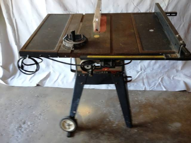 Sears Craftsman 10 14a Table Bench Saw W Legs Extensions Carbide Blade Ebay
